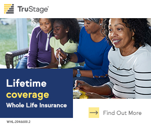 TruStage Insurance Agency. Lifetime coverage. Whole Life Insurance. Fi